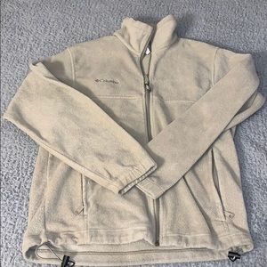 tan columbia zip up